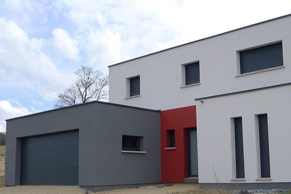 maison neuve facades crepis alsace construction constructeur 68 haut rhin